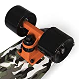SportPlus Ezy Mini-Cruiser Skateboard, Camouflage Grün, 56 cm - 7