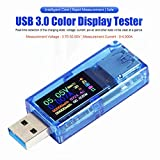 MakerHawk USB 3.0 Tester, USB Power Meter, 3.7-30V 0-4A Voltage Tester Multimeter, USB Current Meter Tester, IPS Color Display Voltmeter Ammeter, USB Charger Tester AT34 (1PCS)