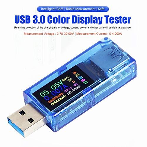 AiLi USB 3.0 Tester, USB Power Meter, 3,7-30 V 0-4 A Spannungsprüfer Multimeter, USB Strommessgerät, IPS-Farbdisplay, Voltmeter, Amperemeter, USB-Ladegerät Tester AT34