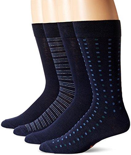 Dockers - Juego de 4 vestidos estampados para hombre, color azul marino,...