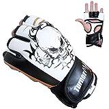 TurnerMAX Cuero sintético guantes de boxeo MMA UFC jaula lucha Sparring GymTraining
