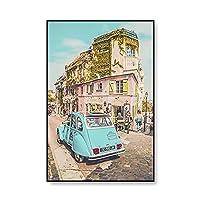 旅行の街のポスターとプリントパリの写真の風景キャンバス絵画の壁アート写真のための家の装飾のインテリア絵画 (Color : B, Size : 30x40 CM Unframed)