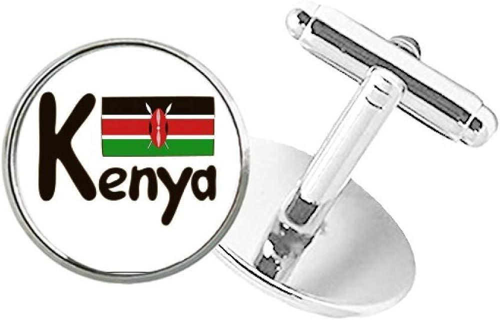 DIYthinker Kenya National mart online shopping Flag Black Button C Round Cuff Pattern