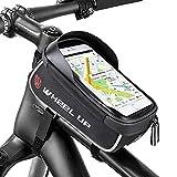 Komake Wasserdichter Fahrradtasche Rahmentaschen Geeignet für Smartphones Innerhalb mit Kopfhörerloch,TPU Touchschirm von 6 Zoll