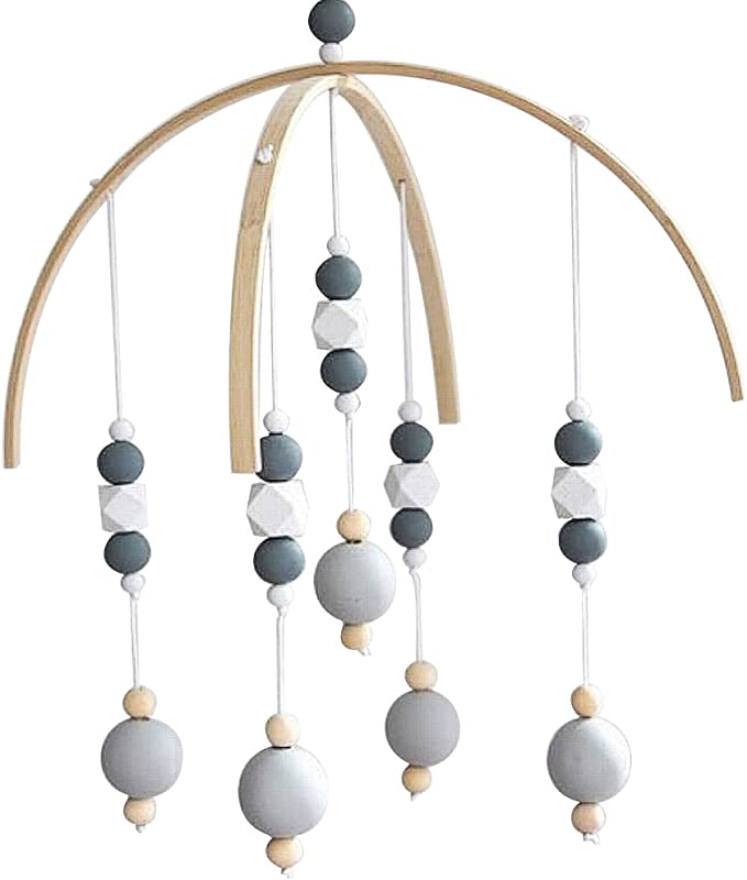 CC Shop Nursery Mobile Crib Bed Bell Baby Bedroom Ceiling Wooden Beads Wind Chime Hanging Ornament 10