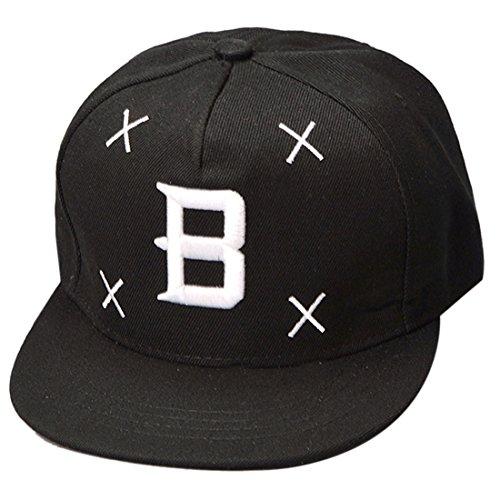THENICE Lettre B broderie noir Casquette de baseball Hip Hop Cap Unisexe