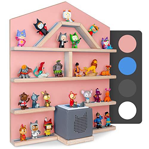 Little Moonshine Regal für Tonie Box und Tonies [DAS ORIGINAL] - Das Regal für Toniebox und bis zu 52 Tonies - Magnetisches Wandregal für Tonies - 4 passend zur Toniebox (Pink)