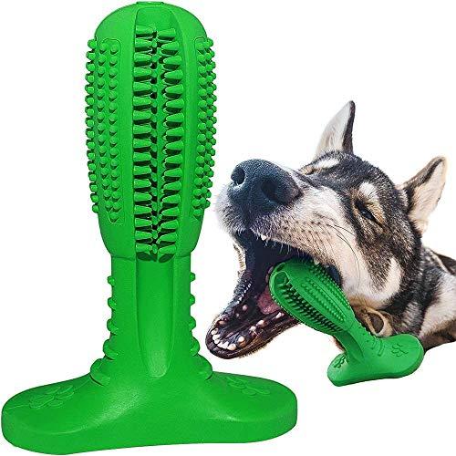 LEONMAR Perros Cepillo de Dientes Crema de Sabor Perro Cepillo de Dientes Nueva versión Mejorada 2019 Kaustick de Caucho Natural Perro Masticar - Limpieza de Dientes para Perros pequeños y Grandes