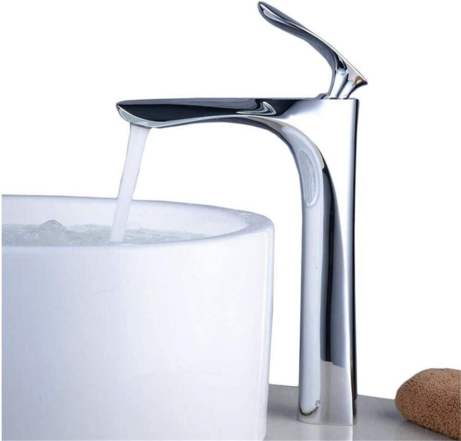 Faucet Luxury Modern Mixer Faucet Tall Counter Top Basin Mixer Tap Curved Bathroom Sink Tap