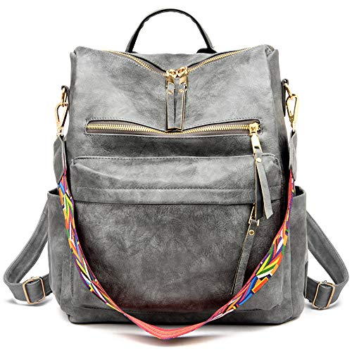 Women's Fashion Backpack Multipurpose Design Handbags and Shoulder Bag PU Leather Travel bag
