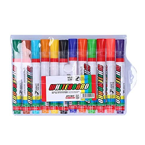 Bolígrafo de pizarra, bolígrafos de pintura coloridos, marcador borrable, juego de herramientas de dibujo para niños, de graffiti, aproximadamente 14,2 cm/5,6 pulgadas(12pcs)