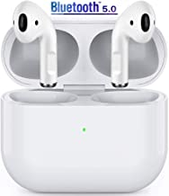 Wireless Earbuds Bluetooth 5.0 Wireless Headphones with Charging Case Built in Mic Noise Cancelling 3D Stereo Headsets in-Ear Ear Buds IPX6 Waterproof Earbuds for iPhone 11/Android Apple Airpods