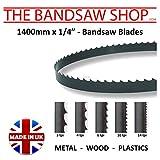 Lames de scie à ruban à bois de 1400 mm x 6 mm Dentures : 4 -6 -10 -14 - 18- 32