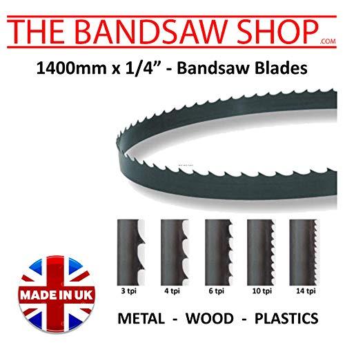 Cuchillas de sierra de cortar de madera de 1400 mm x 6 mm de ancho, 4 – 6 – 10 – 14 – 18 – 32 TPI