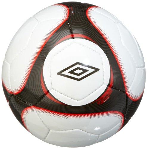 Pallone da calcio Umbro Dynamis League (502962), colore bianco/nero/rosso (356), 5