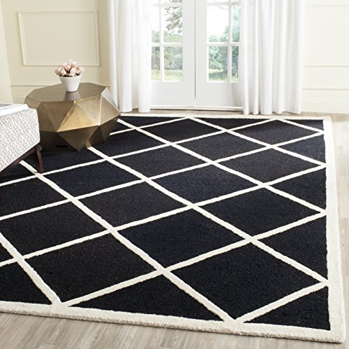 Safavieh Strukturierter Teppich CAM136 Schwarz / Elfenbein 182 X 274 cm