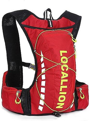HWB  10 L sac à dos Camping & Randonnée Extérieur Compact Rouge   Noir   Bleu Térylène   Nylon 210D