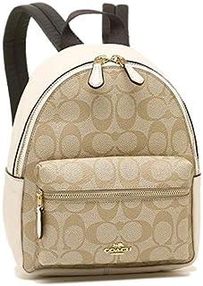 Coach F58315 IMDQC Mini Charlie Signature Backpack Bag Light Khaki/Chalk