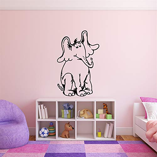 chaded Wall Decor Stickers for Living Room Horton from Hears a Who Childrens Book Character Vinyl Wall Decal for Nursery Kids Room Bedroom