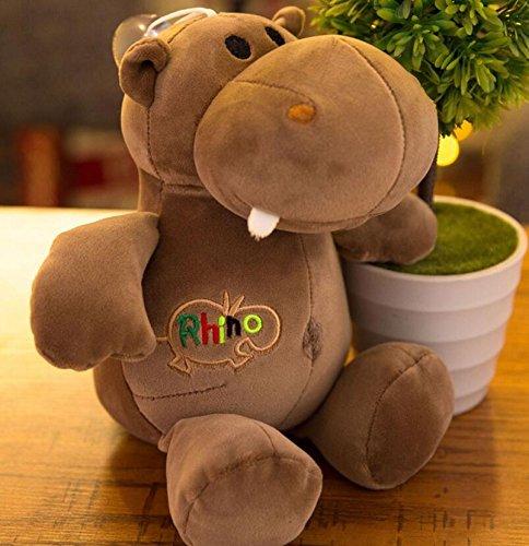 Happy Family Doll Kids Regalo presente Niños creativos juguetes durables suave felpa forma de hipopótamo Juguetes para animales Muñeca almohada muñecas bebé juguete Mini muñeca para niñas y niños cali