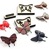 Scrapbook Embossing Wooden Die Cutting Leather Mold Butterfly Shape Cutting Mold for DIY Leather Crafts Making Bow Knot Home Decoration