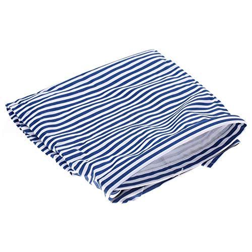 Funda de lactancia, funda de lactancia infantil suave y ajustable para la piel, amigable para el cochecito para salir(Navy blue stripes)