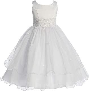 Little Girls' First Communion Lace Trim Tulle Wedding Flowers Girls Dresses