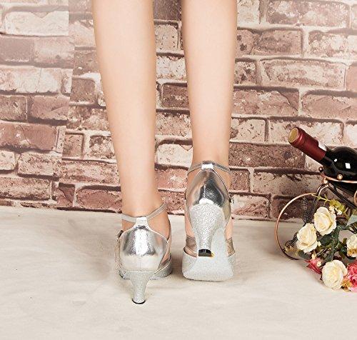 Minitoo Damen Tanzschuhe Silber - 5