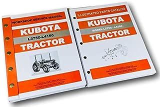 Kubota L3750 L4150 Dt Tractor Service Repair Manual Parts Catalog Shop Set