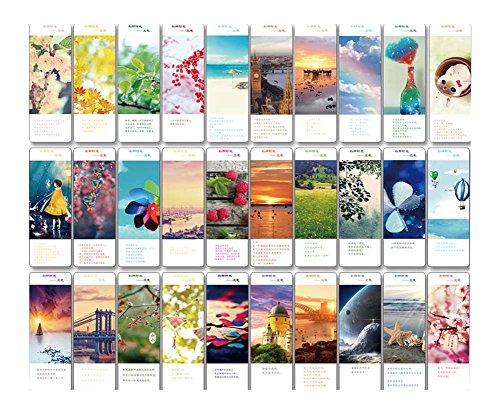 30Pcs Segnalibri creativi Bellissimi segnalibri, bellissimo paesaggio