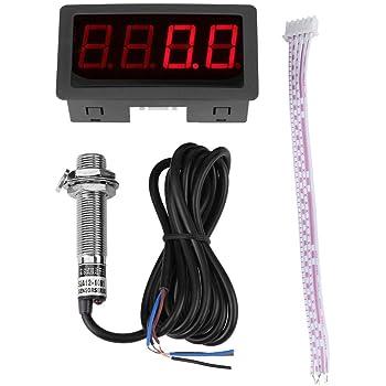 Blue Tachometer,Fydun 4 Digital Red//Blue LED Tachometer RPM Speed Meter+Hall Proximity Switch Sensor NPN