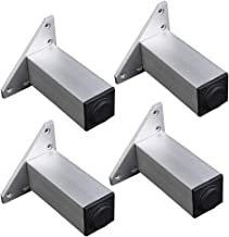 Dxbqm Meubelpoten aluminium Verstelbare metalen steunen 4 delen, 600 kg capaciteit, zilver