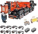 ZJLA Technic Liebherr LTM 11200 Grúa, juego de construcción personalizado con mando a distancia y 8 motores, 7980 bloques, compatible con Lego