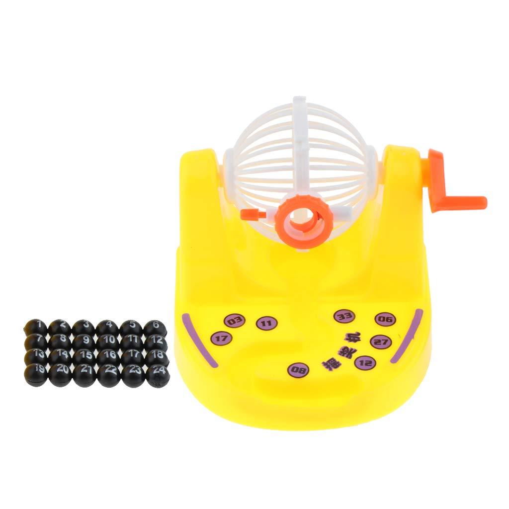 Baoblaze Jaula y Bolas de Bingo Clásico, Juego de Lotería de Máquina de Bingo, Juguete para Niños - Amarillo: Amazon.es: Juguetes y juegos