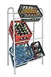 Spetebo Kastenständer XXL für 6 Kisten - Farbe: weiß - Getränkekistenregal, Kistenständer
