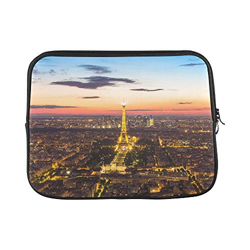 Design Custom Paris France May Light Up at Eiffel T Sleeve Soft Laptop Case Bag Pouch Skin for MacBook Air 11'(2 Sides)