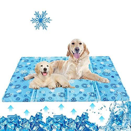 QMMYA Alfombra Refrescante para Perro,Alfombrilla para Animales,Alfombra Fresca para Perros,Alfombrillas De Células De Gel para Perros,para Camas, XL(90 * 50cm)