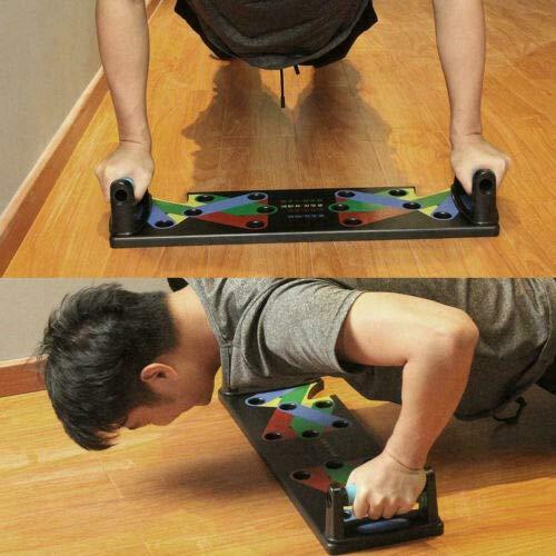 Wanz 9 en 1 Body Building Push Up Rack Board System Fitness Ejercicio Integral Entrenamiento Entrenamiento Gym Ejercicio Pushup Stands