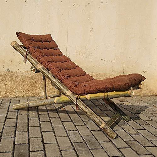 WYZXR Bambusstuhl Klappstuhl Bambusstuhl Alter Mann zurück durch den kühlen Stuhl Einzelklappstuhl Bambusmöbel Mittagspause Balkonstuhl Liege, 2 Stile optional (Farbe: B)