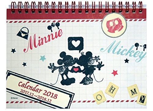 デルフィーノ 2018年 卓上カレンダー ディズニー ミッキー&ミニー DZ-78735
