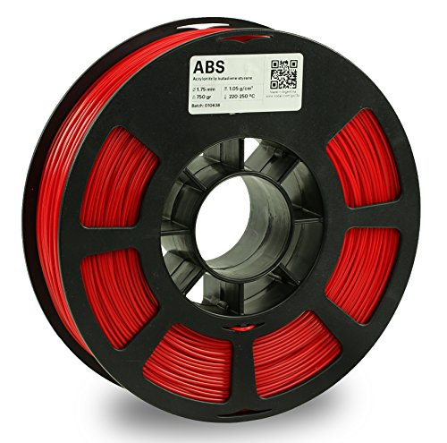 KODAK ABS Filament 1.75mm for 3D Printer, Red, Dimensional Accuracy +/- 0.03mm, 750g Spool (1.7lbs), ABS Filament 1.75 Used as 3D Printer Filament to Refill Most FDM Printers
