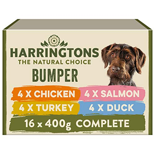 Harringtons Grain Free Wet Dog Food Mixed Flavours 16x400g