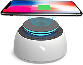 SUSYTA Fast Wireless Charger,Wireless Charging Stand Compatible for iPhone Xs MAX/XR/XS/X/8/8 Plus,10W Compatible for Samsung Galaxy Note 9/S9/S9 Plus/Note 8/S8,Wireless Charger with Bluetooth Speaker