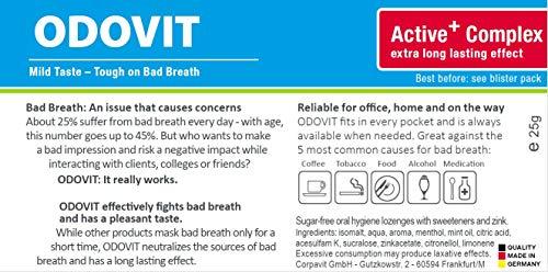 Mundgeruch – dagegen hilft ODOVIT : 5x Mundpflege-Bonbons 10er – Stark gegen Mundgeruch – mild im Geschmack – für nachhaltig frischen Atem - 4
