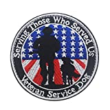 Veelkrom Service Dog Patch for Dogs,Serving Those who Served us Patches Veteran Service Dog Removable Emblem for Service Dog Harnesses & Vests - Military Tactical Army Embroidered Morale Badge