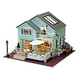 Puppenhaus Bausatz Holz Modell Set, DIY Cottage Hand zusammengebautes hölzernes Puppenhaus...