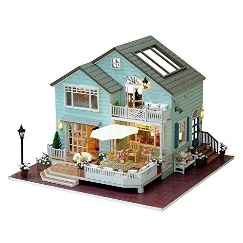 qianqian Puppenhaus-Miniatur Mit Möbeln, DIY-Puppenhaus-Kit Aus Holz, Musikbewegung Und LED-Licht, Kreativraum Im Maßstab 1: 24, Modell-Kreativgeschenke | Queens Town |