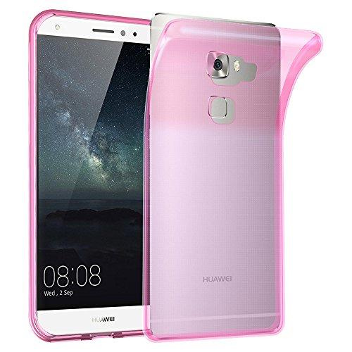 Cadorabo Funda para Huawei Mate S en Transparente Rosa - Cubierta Proteccíon de Silicona TPU Delgada e Flexible con Antichoque - Gel Case Cover Carcasa Ligera