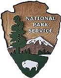 GQQ Cabeza de Flecha Del Servicio Del Parque Nacional de Juyuntong, Letrero de Parque Antiguo de 16 X 12 Pulgadas, Patio Interior Y Exterior, Decoración de Jardín, Servicio de Parque Nacional, Decora