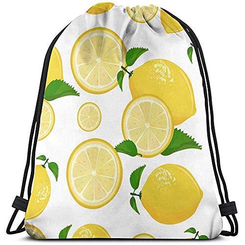Bouia Backpack sap limonade grapefruit limoengeel citroen trekkoord rugzak lange levensduur grote capaciteit sporttas riemtassen draagbare opbergtas